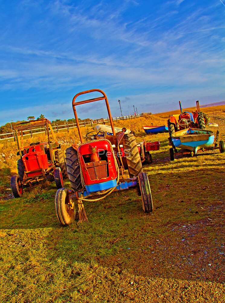 Rusty Old Tractors by Peter Stone