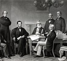 President Lincoln and His Cabinet by warishellstore