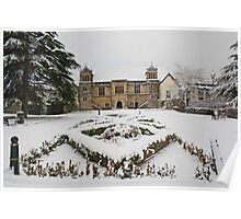 Archbishops Palace In The Snow Poster