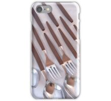 Flatware with Wood Handles iPhone Case/Skin