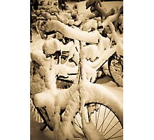Piling up the snow Photographic Print