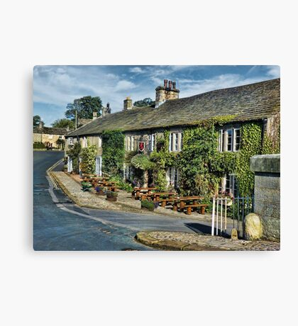 The Red Lion, Burnsall. Canvas Print