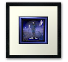 Welcome to our world, humans Framed Print