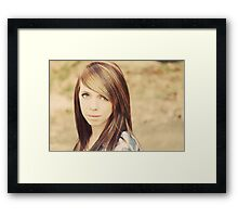 Lori Wells Photography-Model Tiffany in 70's Color  Framed Print
