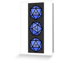 Blue d20 Greeting Card