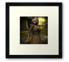 The elven peasant girl Framed Print