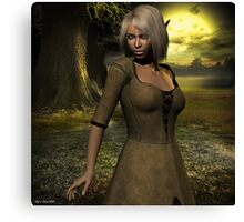 The elven peasant girl Canvas Print