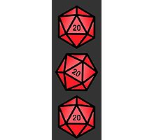 Red d20 Photographic Print