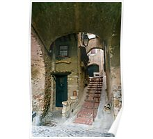 Town Alleyways 1 - Cagnes-Sur-Mer - France. Poster