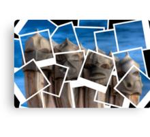 Gaudi Casa Mila Chimney Polaroids Canvas Print