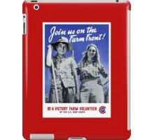 Be A Victory Farm Volunteer -- WWII iPad Case/Skin
