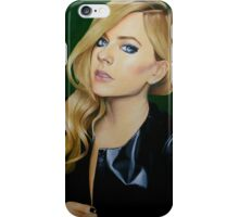"""Avril Lavigne"" Oil Painting  iPhone Case/Skin"