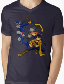 Cops and Robbers Mens V-Neck T-Shirt