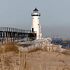 Manistee Lighthouse In Winter by leftwinger7