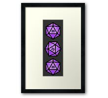 Purple d20 Framed Print
