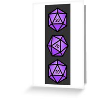 Purple d20 Greeting Card