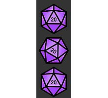 Purple d20 Photographic Print