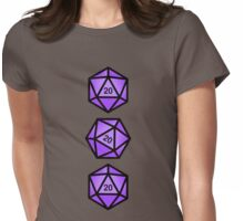 Purple d20 Womens Fitted T-Shirt