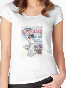 Fight or Buy Bonds -- WWI Women's Fitted Scoop T-Shirt