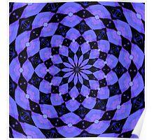 Lavender Kaleidoscope Poster