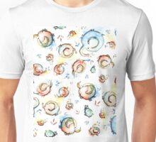 Funny Elephants Pattern Watercolor Unisex T-Shirt