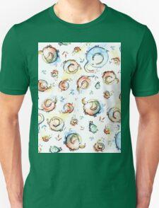 Funny Elephants Pattern Watercolor T-Shirt