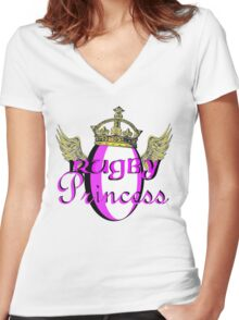 Rugby Princess Women's Fitted V-Neck T-Shirt