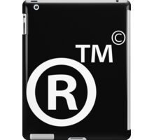 Rights Reserved Trademark Copyright iPad Case/Skin