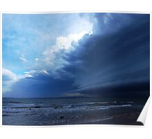Storm view from Bribie Island Poster