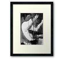 figure in transient flux Framed Print