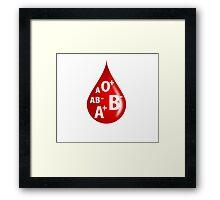 Blood Type Framed Print