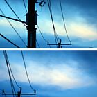 Powerlines and Blue by Amanda McConnell