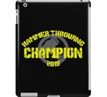 Hammer Throwing Champion iPad Case/Skin