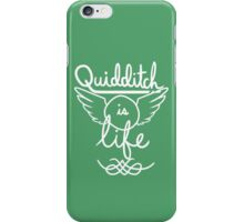 Quidditch is Life (White) iPhone Case/Skin