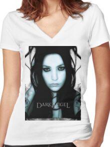DarkAngel  Women's Fitted V-Neck T-Shirt