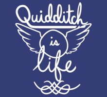 Quidditch is Life (White) by teecup