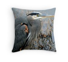 Great Blue Closeup Throw Pillow