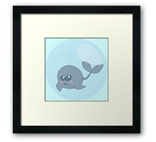 Little whale in a bubble Framed Print