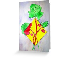 Rose of a Different Color Greeting Card