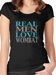 Real Men Love Wombat Women's Fitted Scoop T-Shirt