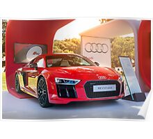 Audi R8 in Red Poster
