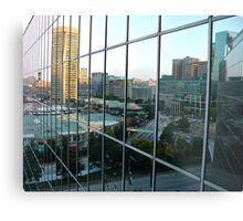 A Reflection of Baltimore Inner Harbor Metal Print