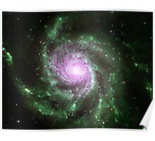 Pinwheel Galaxy [Green Pink] Poster