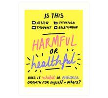 harmful or healthful Art Print