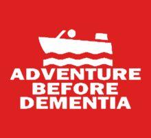 Speed Boat Adventure Before Dementia Kids Tee