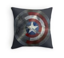 Worn Steve & Bucky Unshielded Half Shield  Throw Pillow