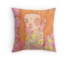 Orange Fluffy Throw Pillow