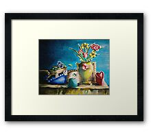 still life roses and flowers Framed Print