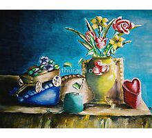 still life roses and flowers Photographic Print