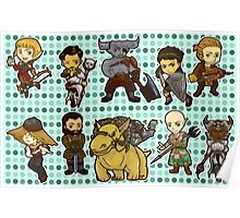 Dragon Age Inquisition Chibi Poster